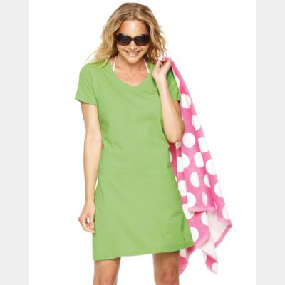 Women's V-Neck Fine Jersey Coverup Thumbnail