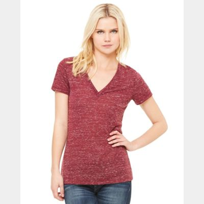 Women's Deep V-Neck Jersey Tee Thumbnail