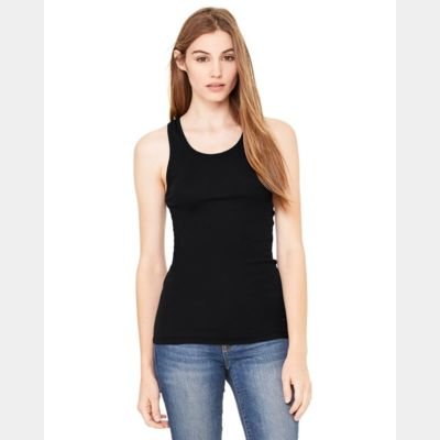 Women's Sheer Mini Rib Racerback Tank Thumbnail