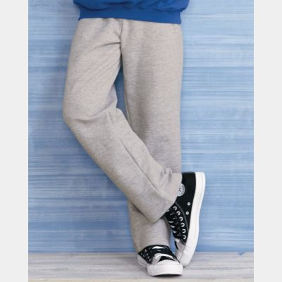 Heavy Blend Youth Open Bottom Sweatpants Thumbnail