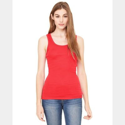 Women's Sheer Mini Rib Tank Thumbnail