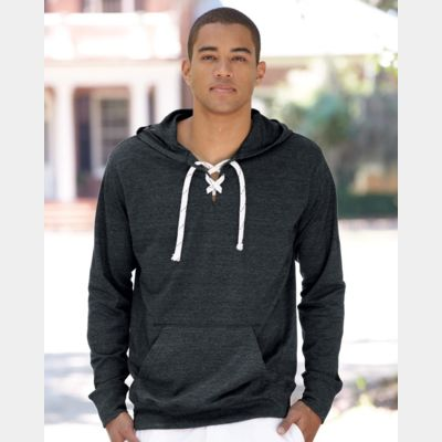 Sport Lace Jersey Hooded Pullover T-Shirt Thumbnail