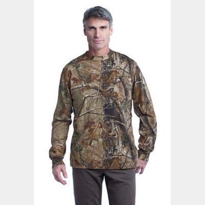 ™ Realtree ® Long Sleeve Explorer 100% Cotton T Shirt with Pocket Thumbnail