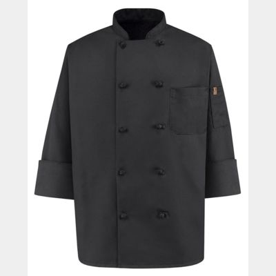 Black Knot Button Chef Coat Thumbnail