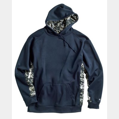 Digital Camo Colorblock Performance Fleece Hooded Sweatshirt Thumbnail
