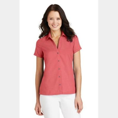 Ladies Textured Camp Shirt Thumbnail
