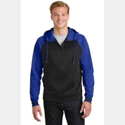 Sport Wick ® Varsity Fleece Full Zip Hooded Jacket Thumbnail