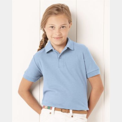 Youth Easy Care Pique Sport Shirt Thumbnail