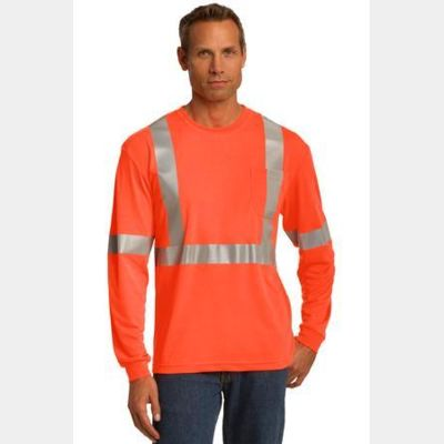 Ansi 107 Class 2 Long Sleeve Safety T Shirt Thumbnail