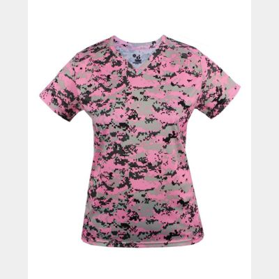 Women's Digital Camo V-Neck T-Shirt Thumbnail