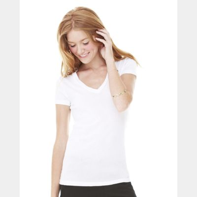 Women's Tissue Jersey Deep V-Neck T-Shirt Thumbnail