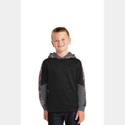 Youth Sport Wick ® Mineral Freeze Fleece Colorblock Hooded Pullover Thumbnail