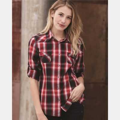 Women's Convertible Sleeve Western Shirt Thumbnail