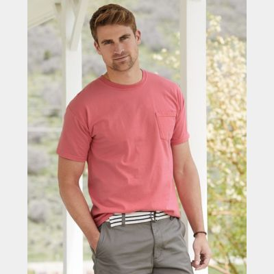 Garment Dyed Short Sleeve T-Shirt With a Pocket Thumbnail