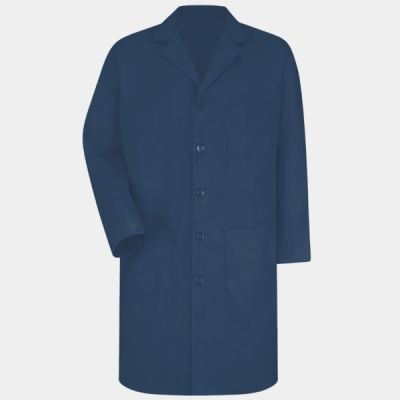 Button Front Lab Coat Extended Sizes Thumbnail