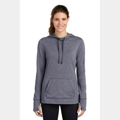 ® Ladies PosiCharge ® Tri Blend Wicking Fleece Hooded Pullover Thumbnail