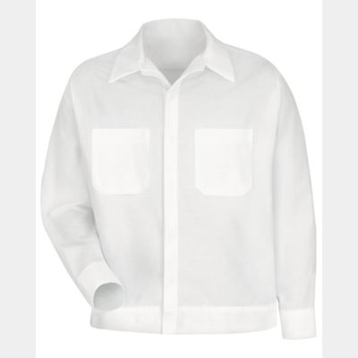 Button-Front Shirt Jacket - Long Sizes Thumbnail